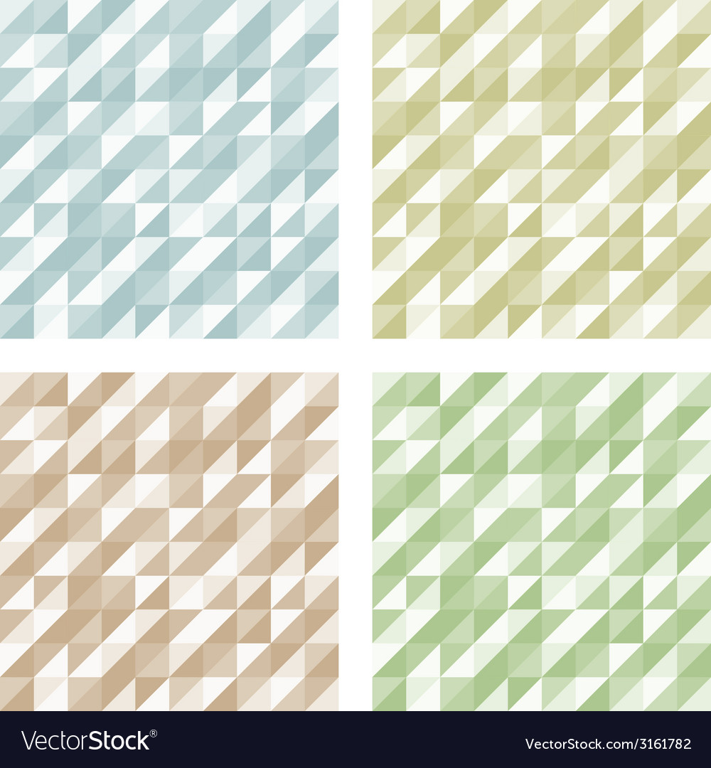 Set of Geometric Retro patterns vector image