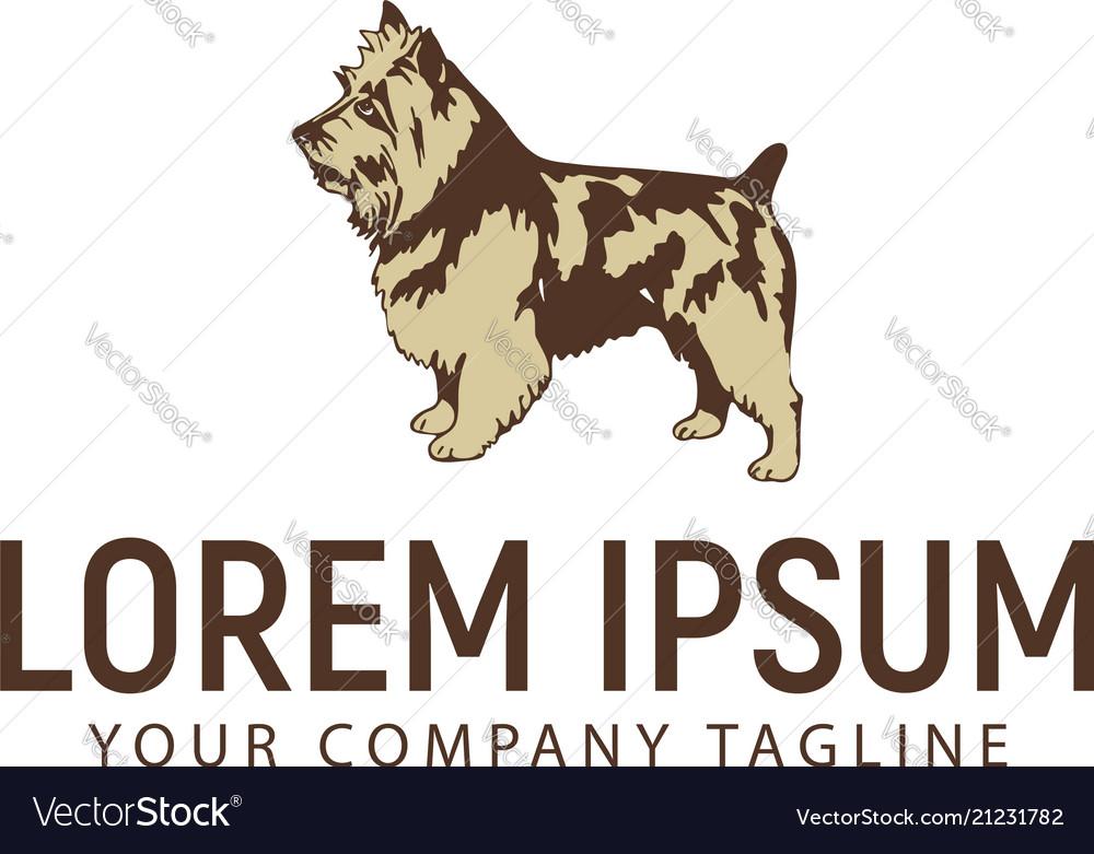 Stand dog logo pet dog logo design concept