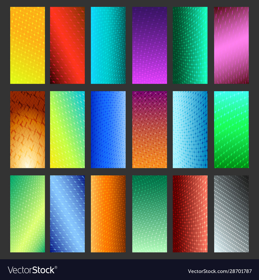 Abstract vibrant background set