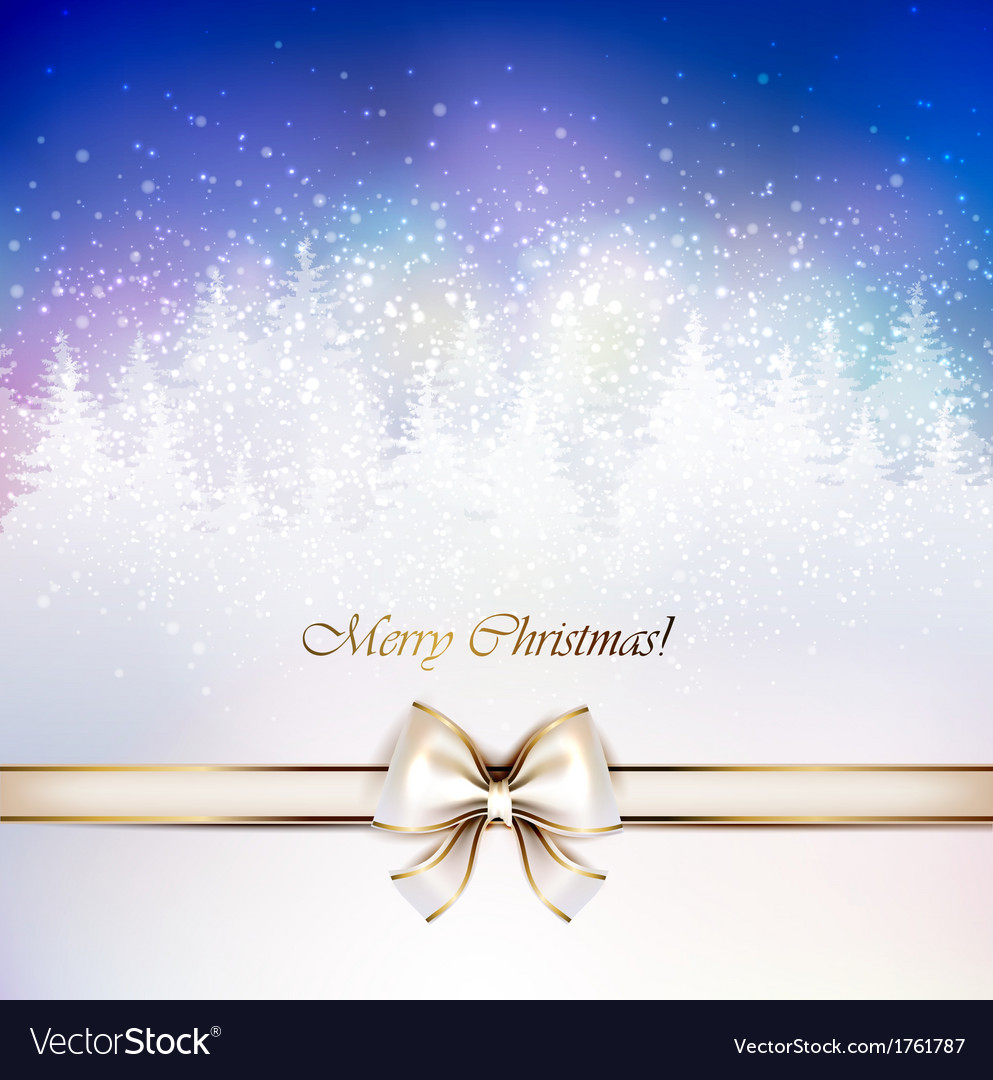 Christmas greeting-card vector image