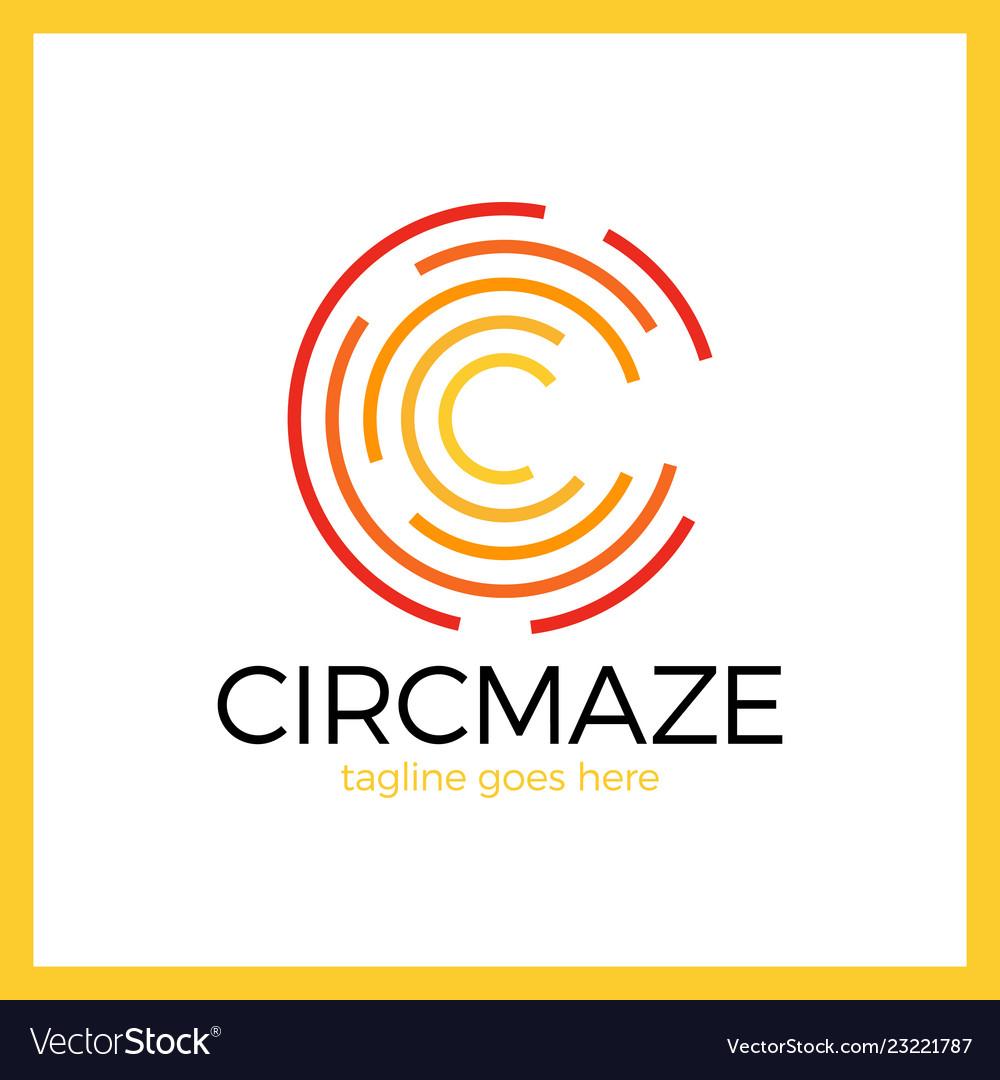 Circle maze logo - letter c