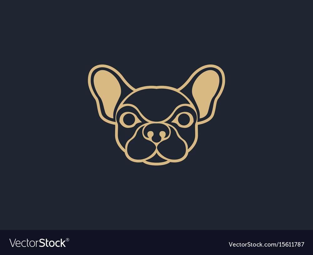 Dog logo icon design template