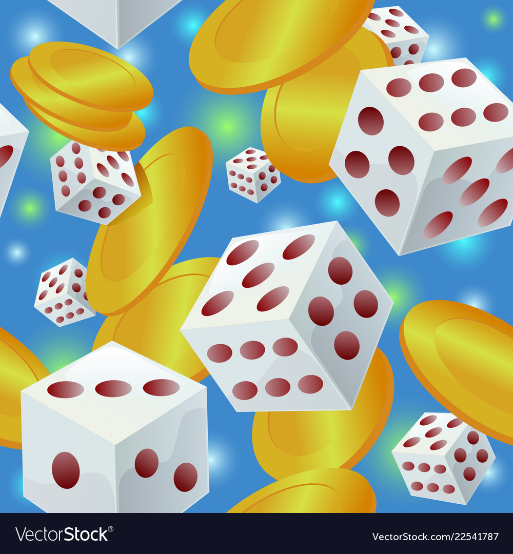 Gambling seamless pattern