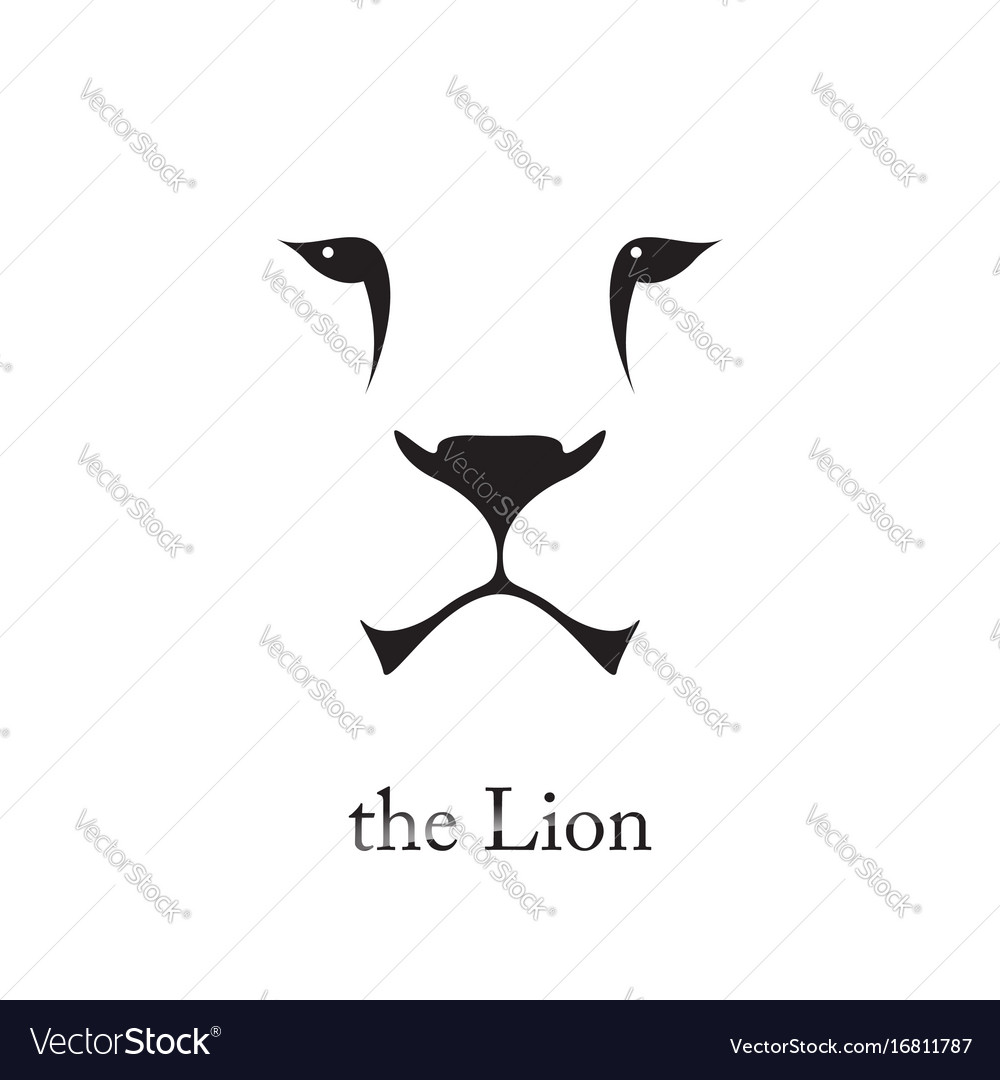 Image of an lion head on white background