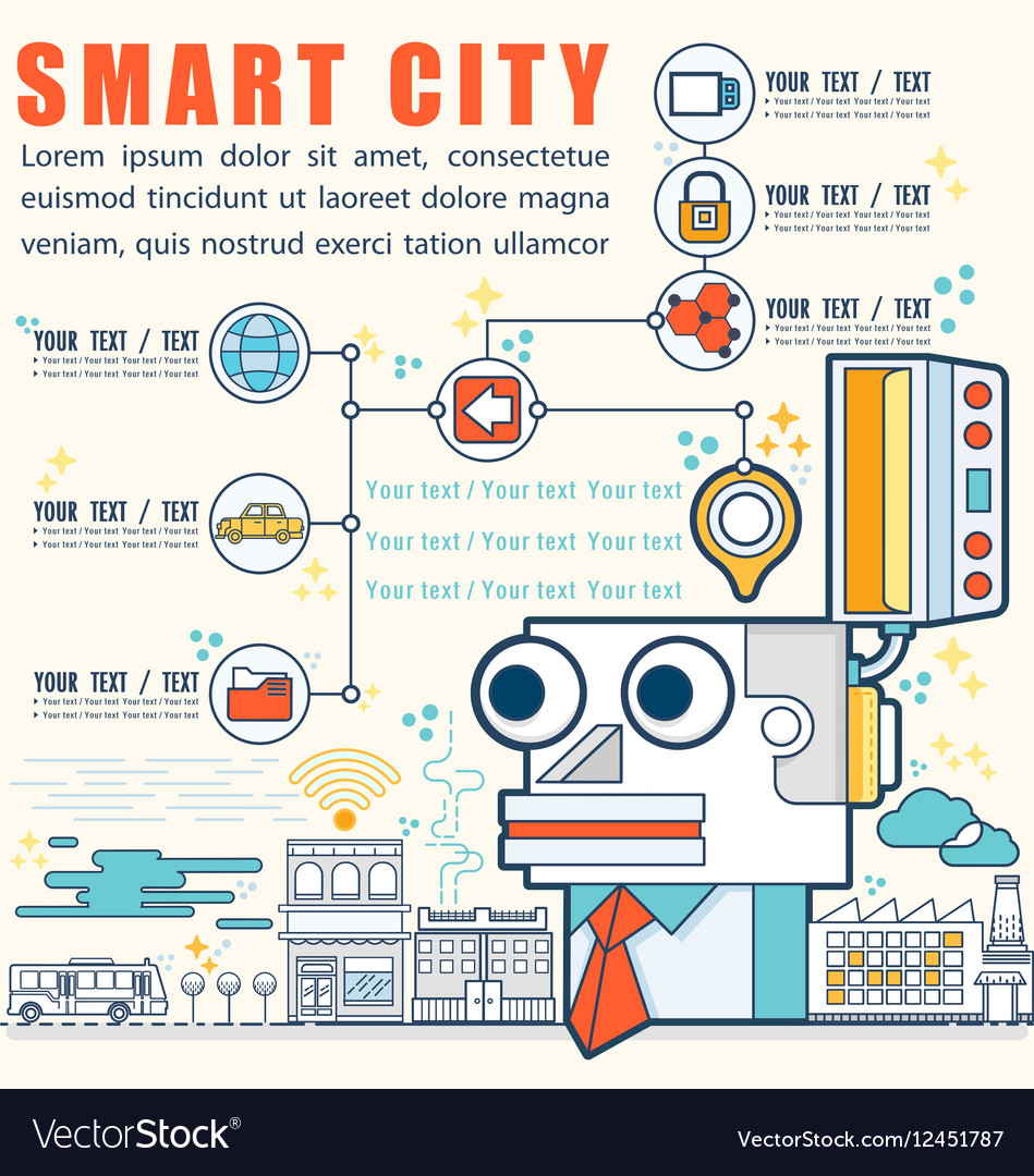 Infographic smart city