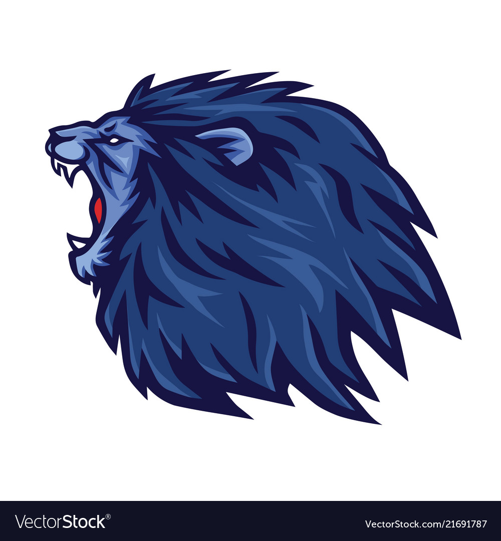 Lion roaring logo mascot icon template