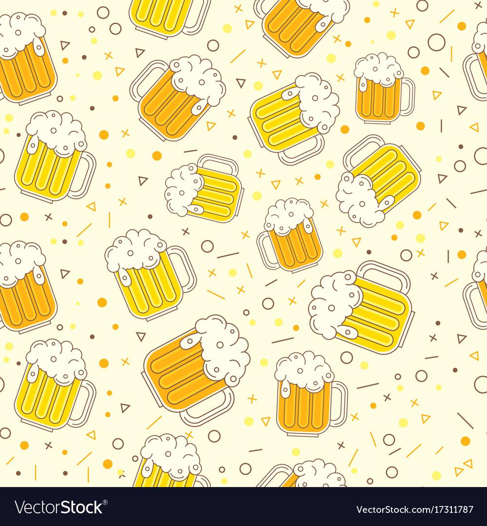 Oktoberfest seamless pattern on light background vector image
