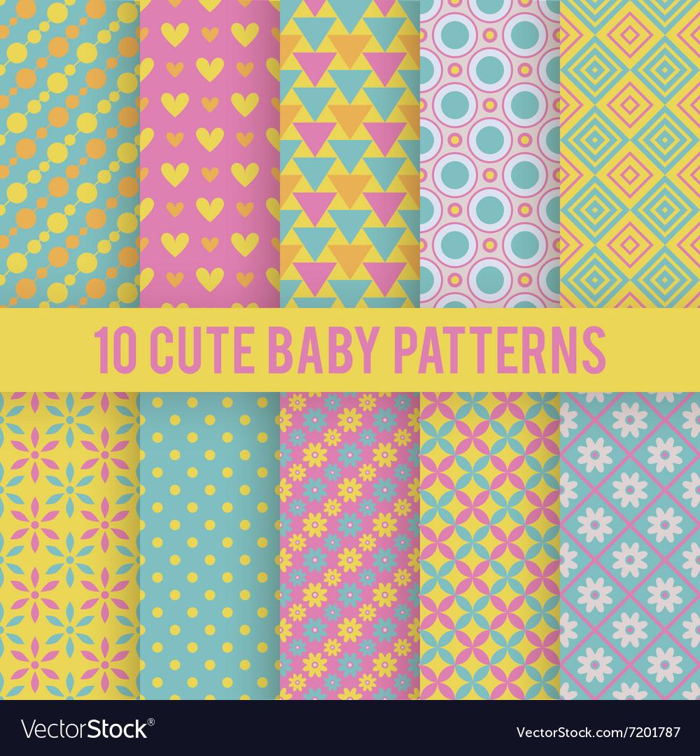 Retro kids seamless patterns Endless
