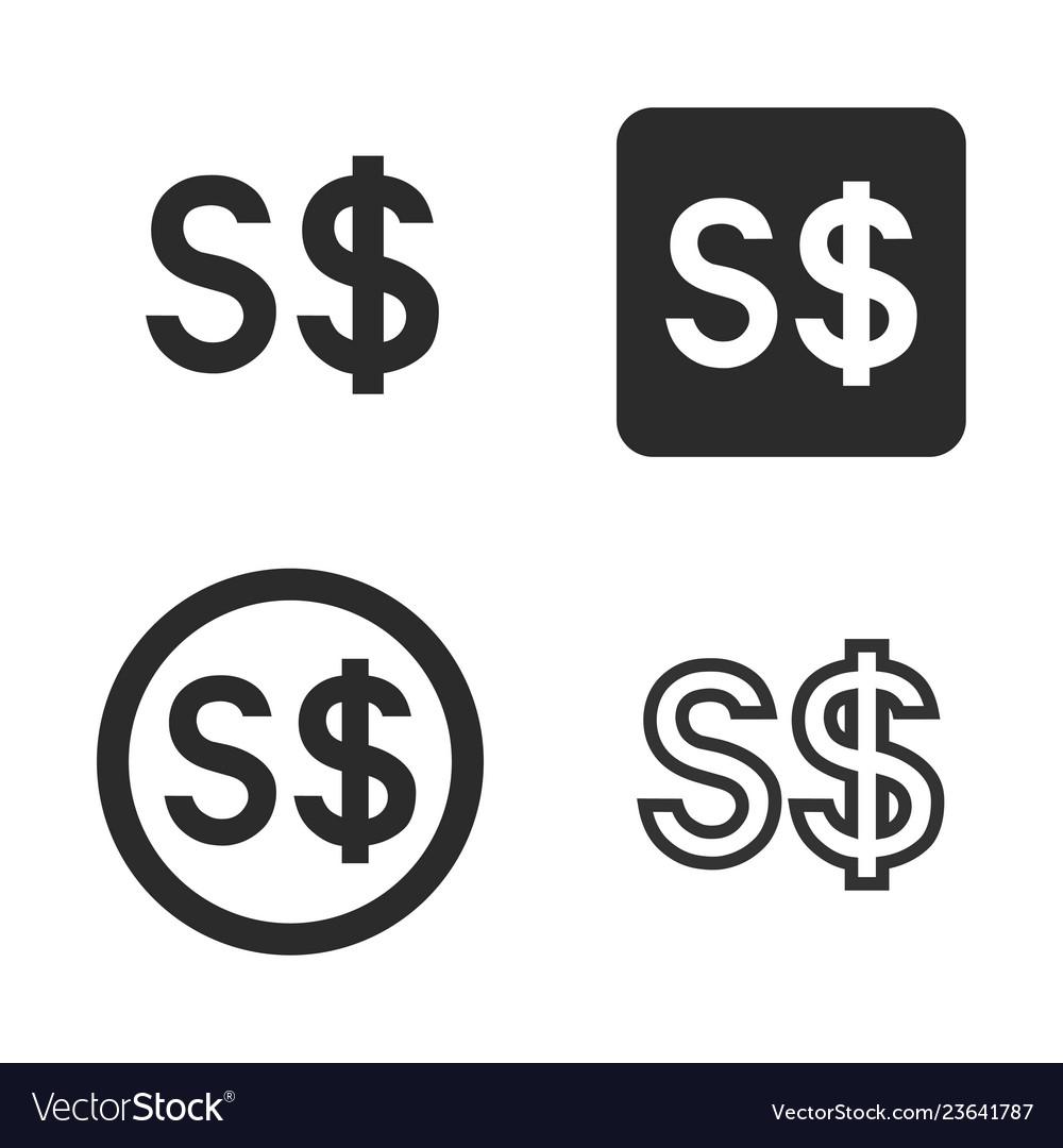 Singapore dollar currency symbol set