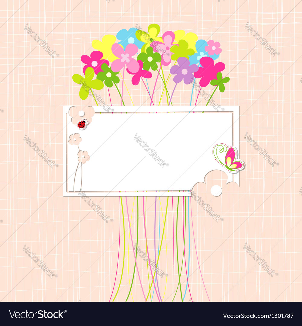 Springtime Colorful Flower and Butterfly Greeting
