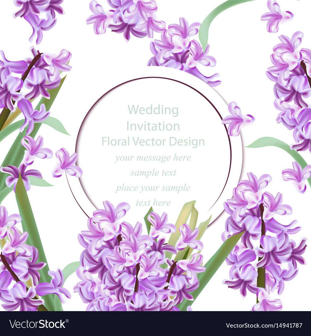 Wedding invitation with lily flowers spring
