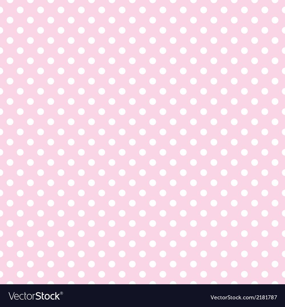 White polka dots on tile pink background pattern vector image