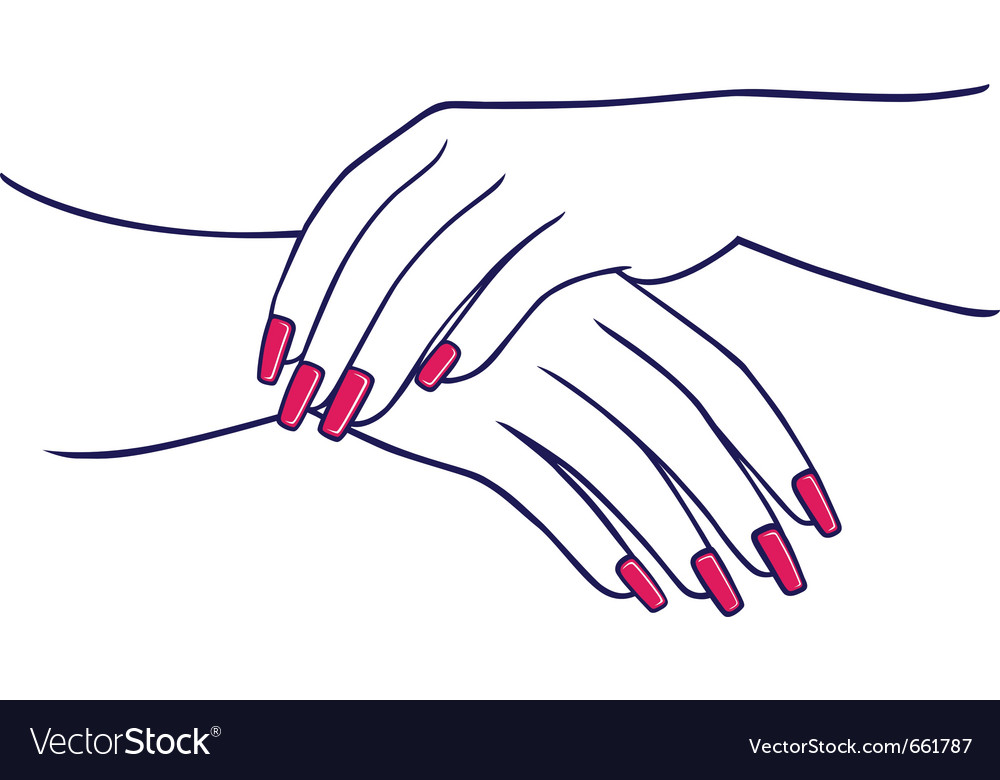 Woman hands collection