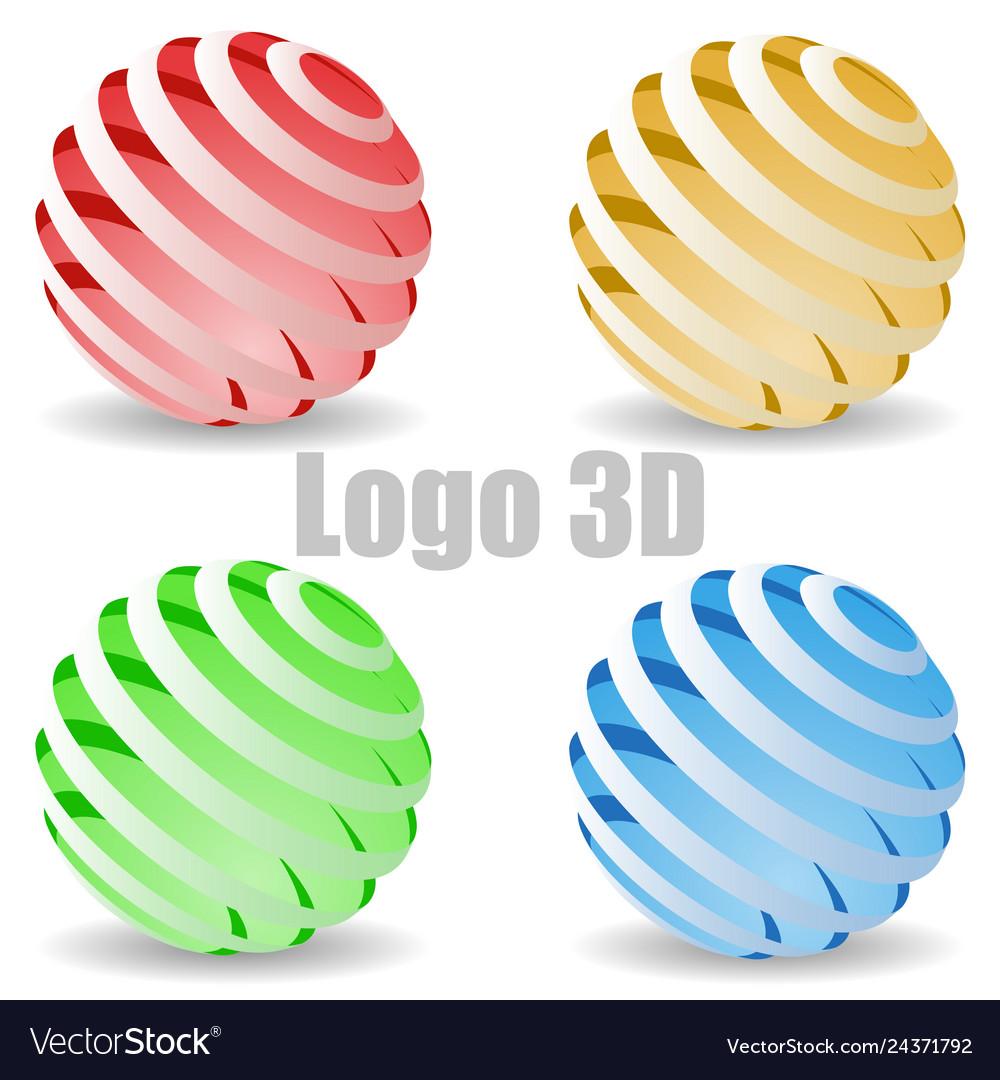 Colored 3d circle logo
