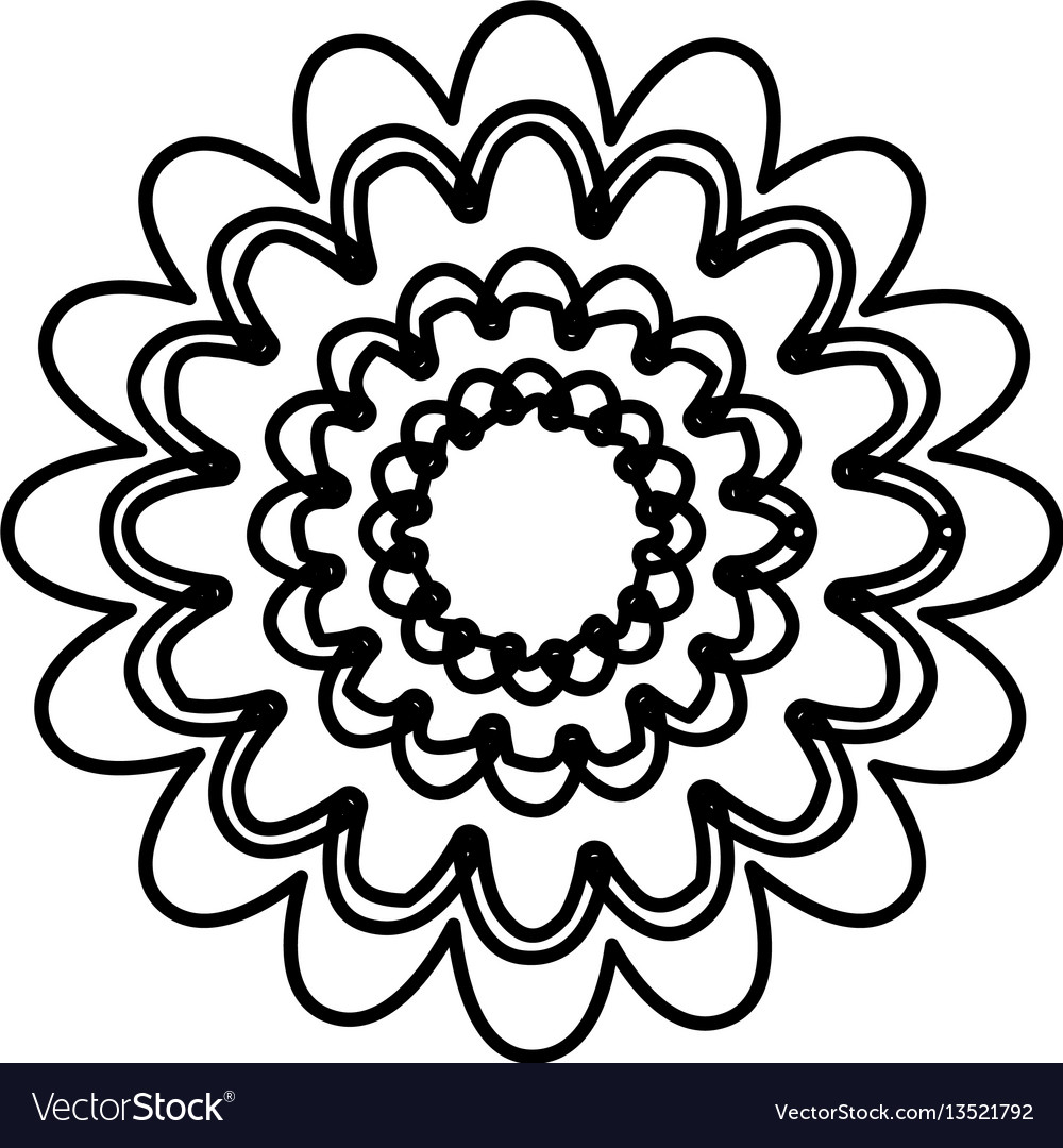 Figure flower with abstract petals icon