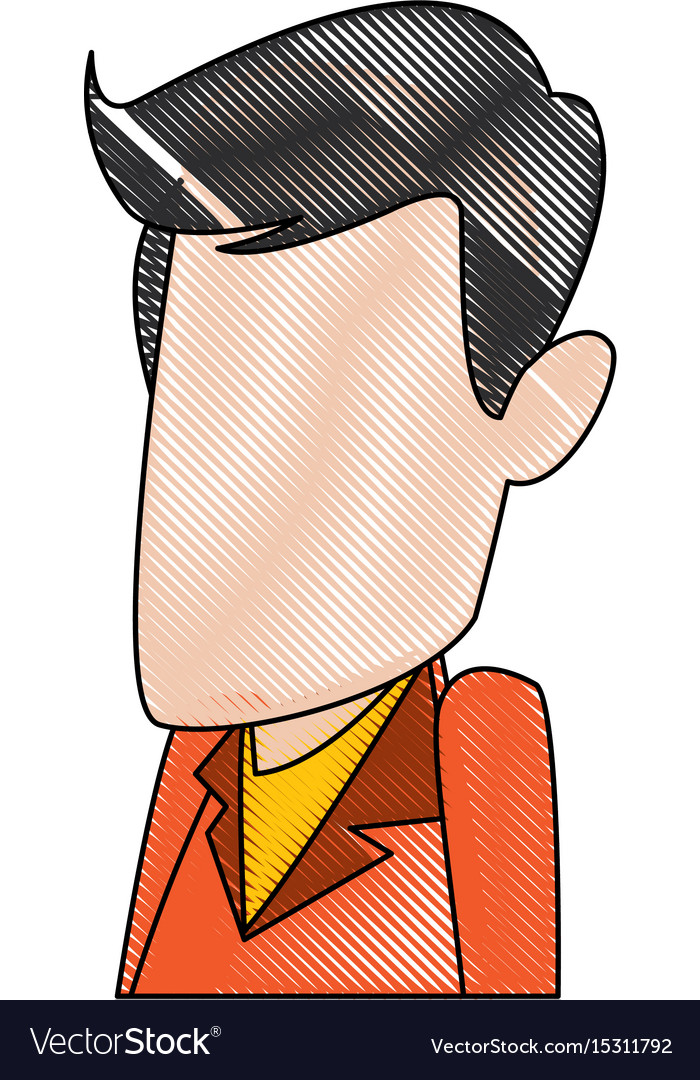 Man cartoon face adult caricature character