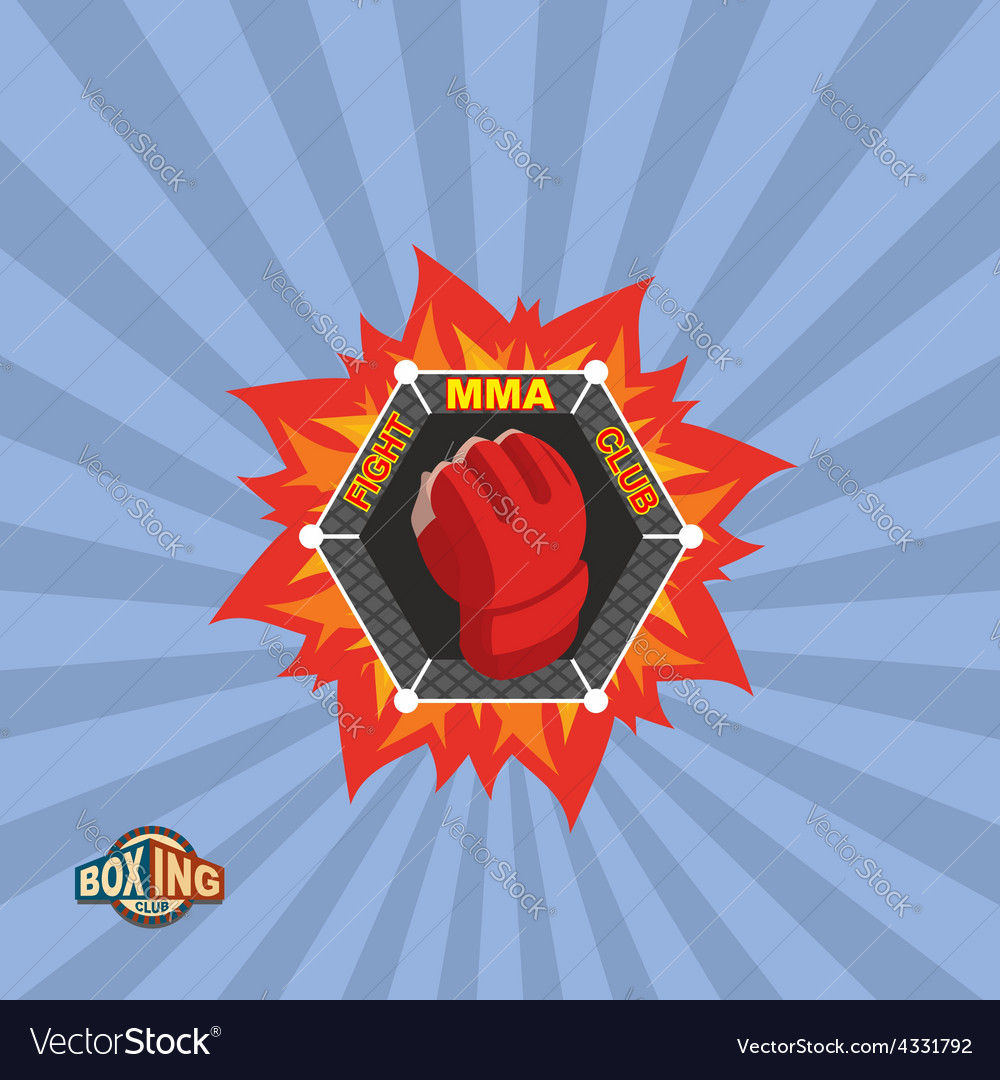 Mixed Martial Arts logo MMA emblem vector image