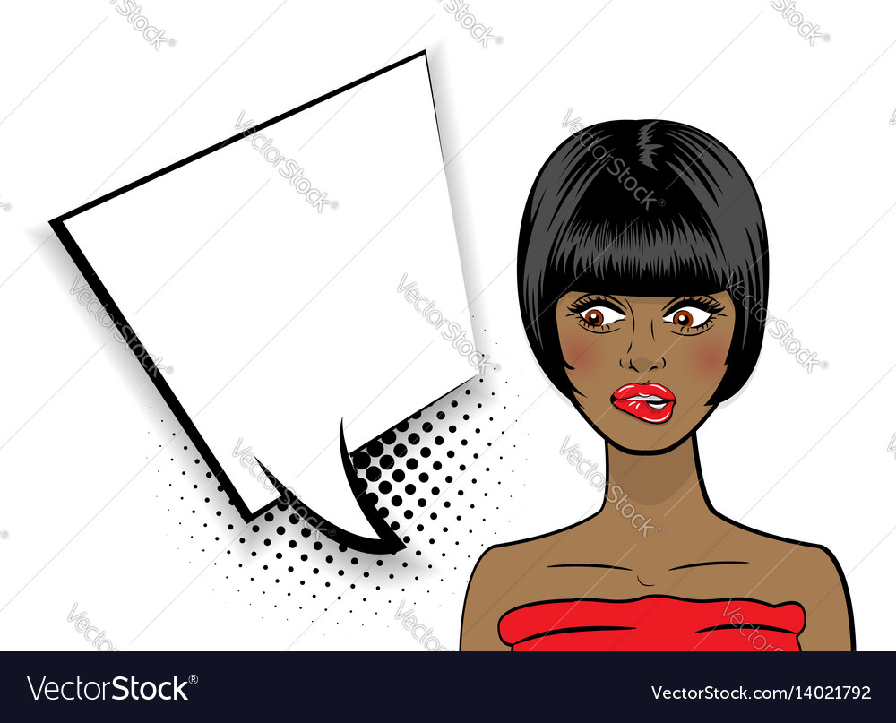 Pop art sexy shocked african american black woman