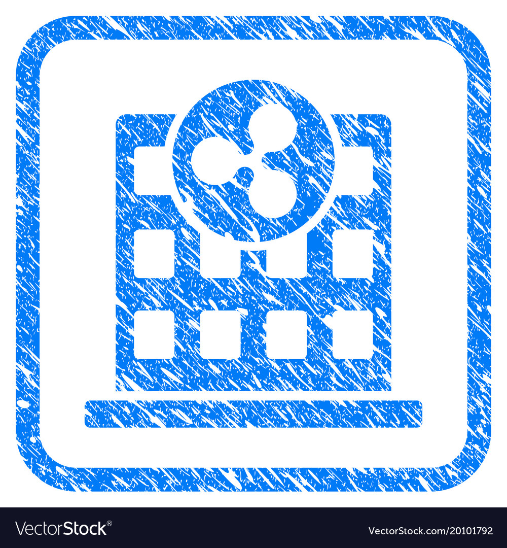 Ripple company building framed stamp Royalty Free Vector
