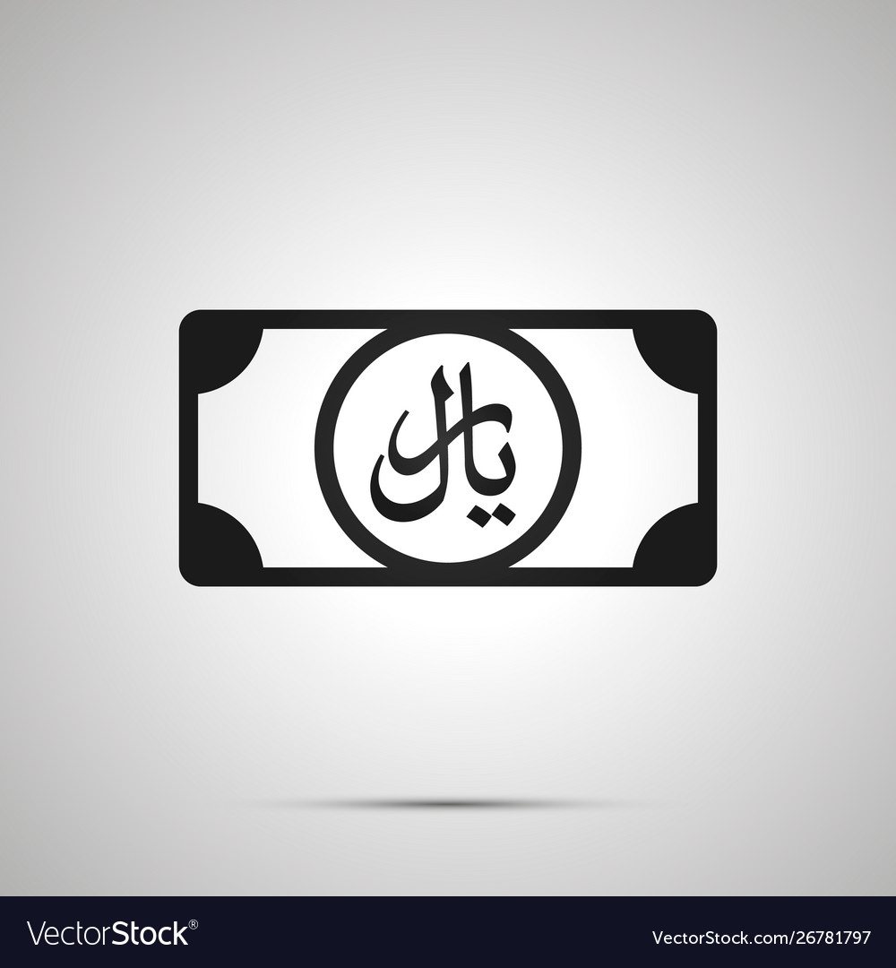 Abstract money banknote with rial sign simple