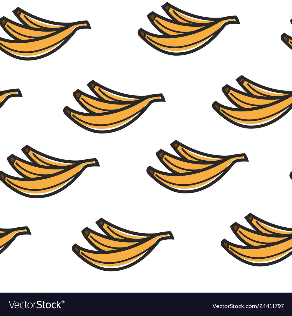 Banana fruits seamless pattern tropical organic