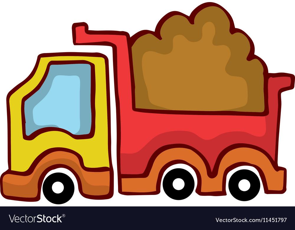 Cartoon Dump Truck design for kids