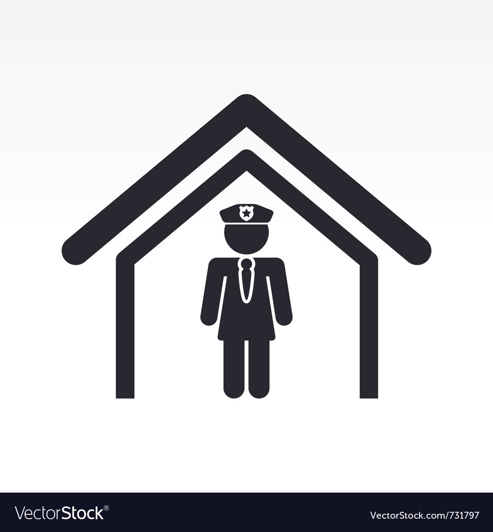 Cop in police station vector image