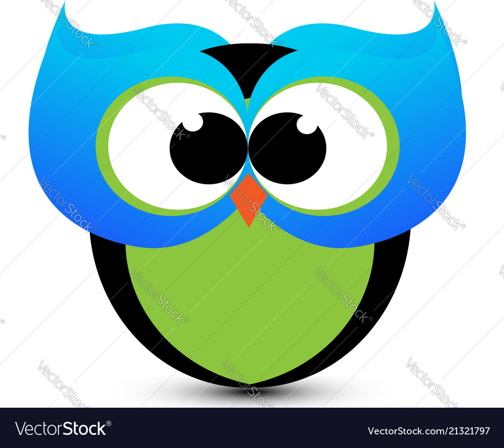 Cute owl cartoon icon