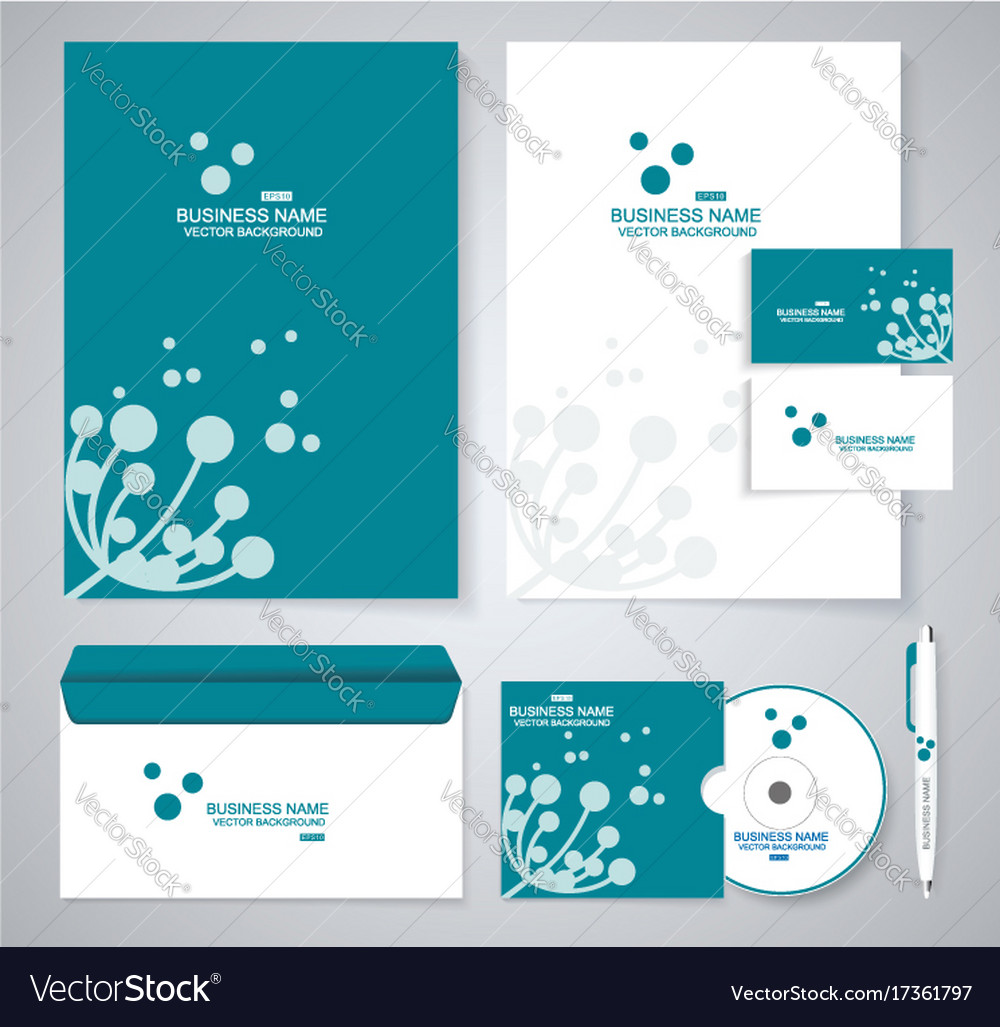 Document template design with silhouette of