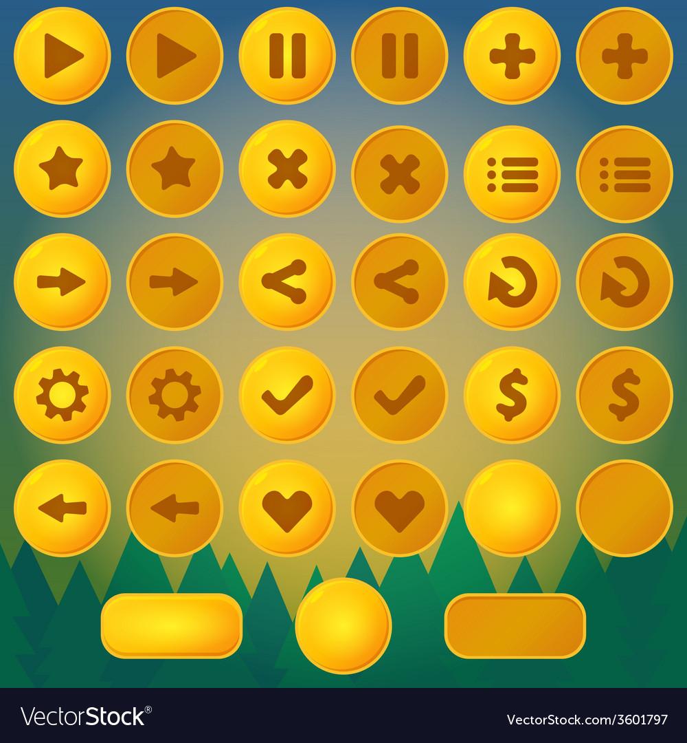 Game menu yellow ui buttons