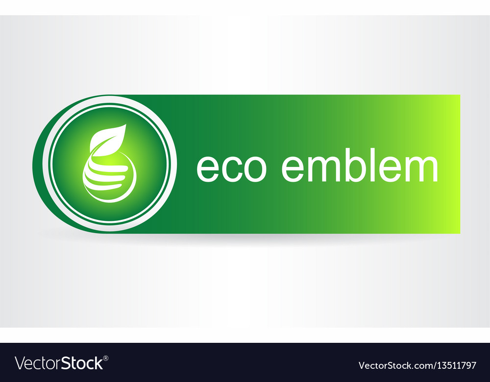 Green leaves eco icon