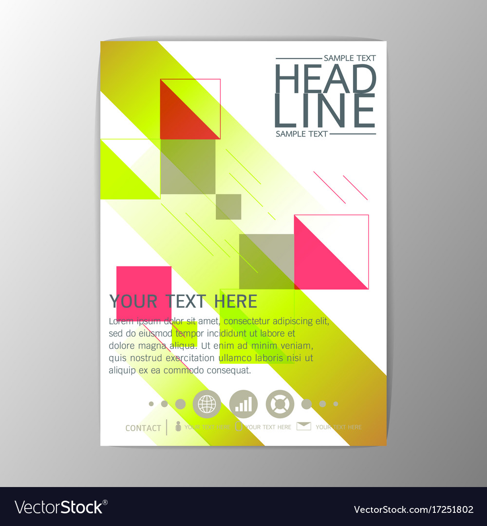 A4 creative abstract background design brochure