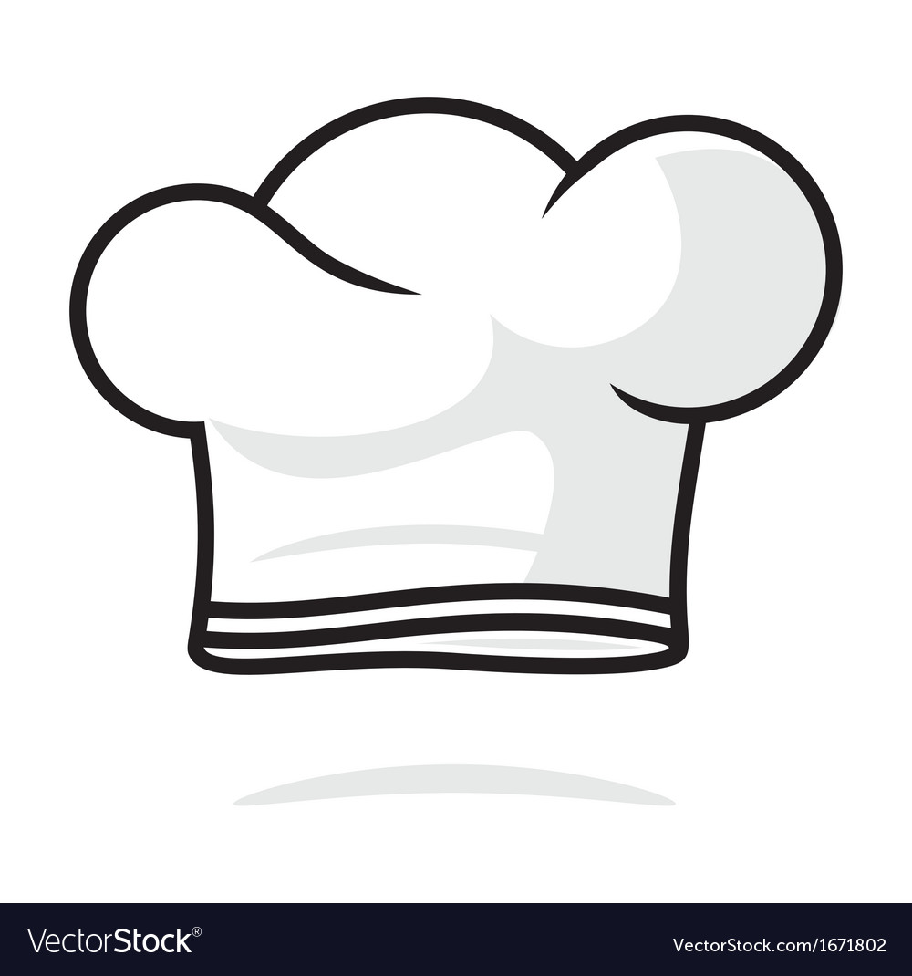 chef hat royalty free vector image vectorstock rh vectorstock com chef hat vector free chef hat vector images