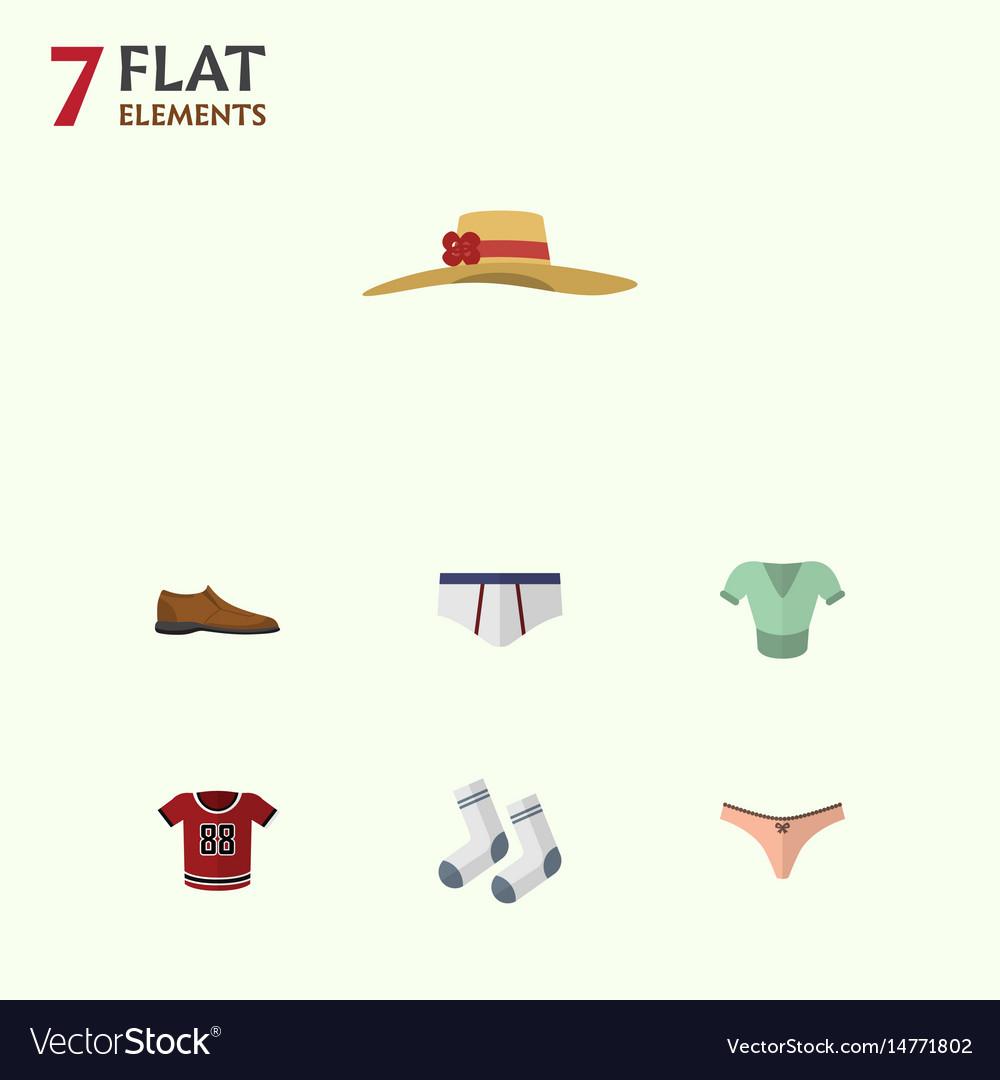 Flat clothes set of foot textile lingerie