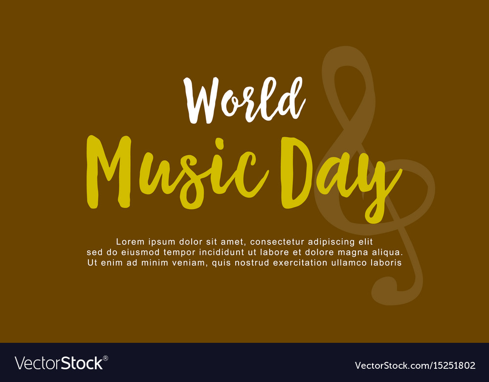 Flat of world music day collection