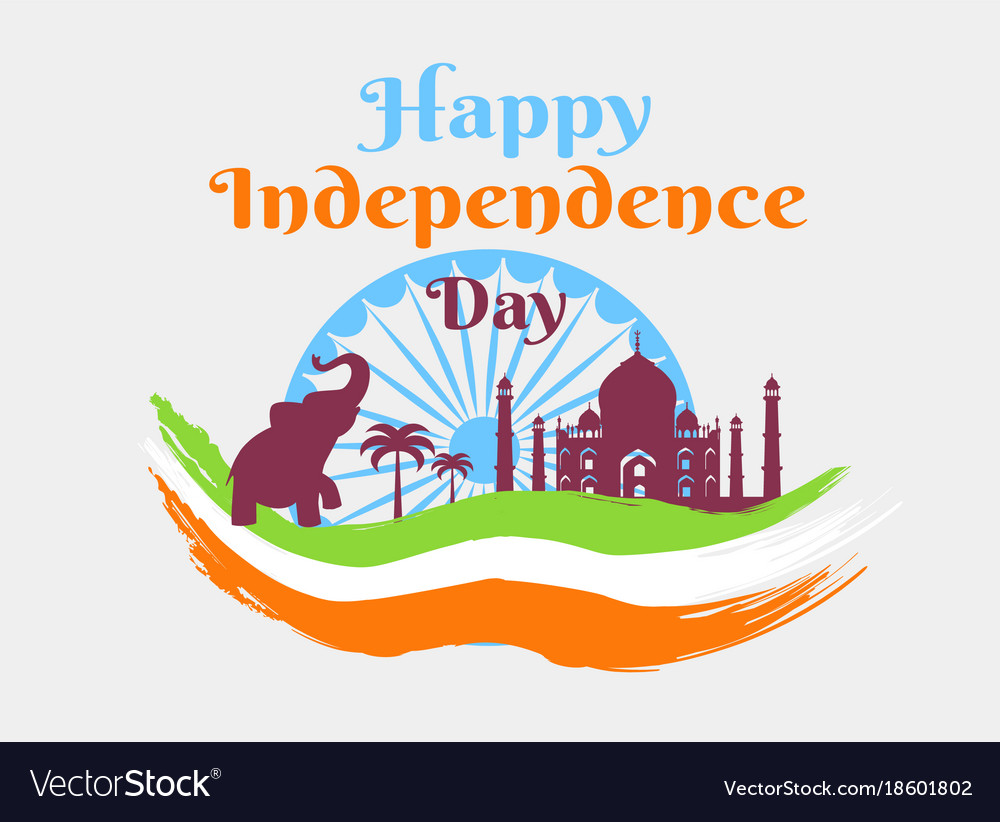 Happy Independence Day In India Holiday Poster Vector Image