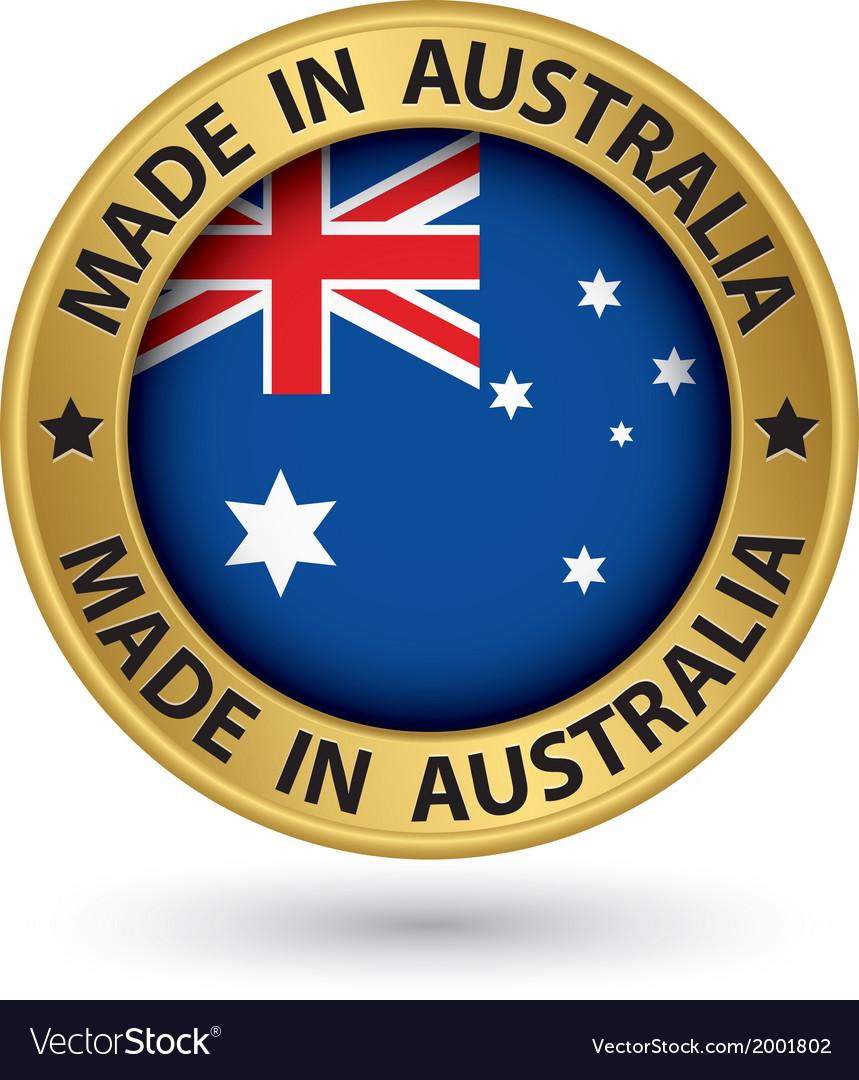 Made in australia gold label