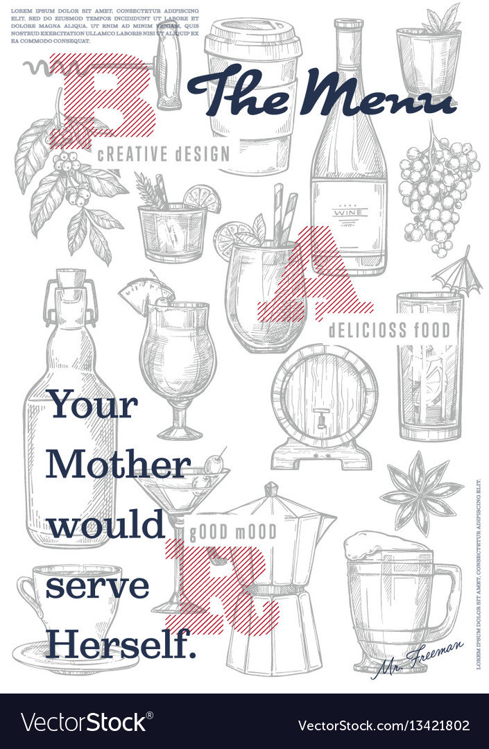 Restaurant or cafe menu cover page