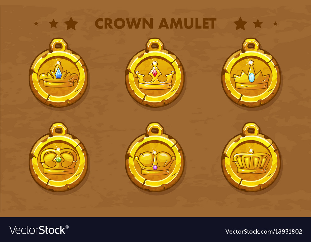 Set old amulets with crown