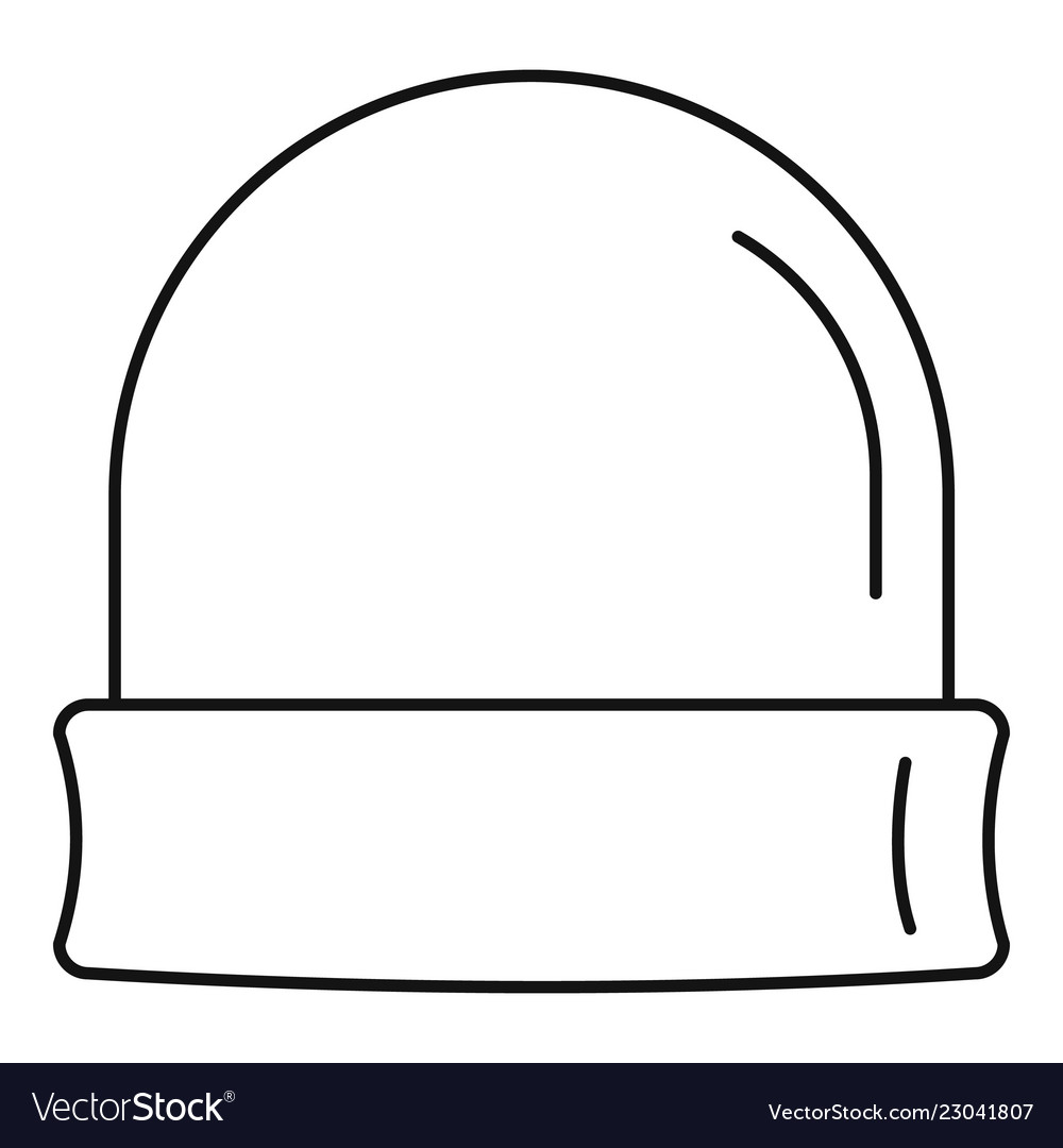 Beanie icon outline style Royalty Free Vector Image cb22798cbdd