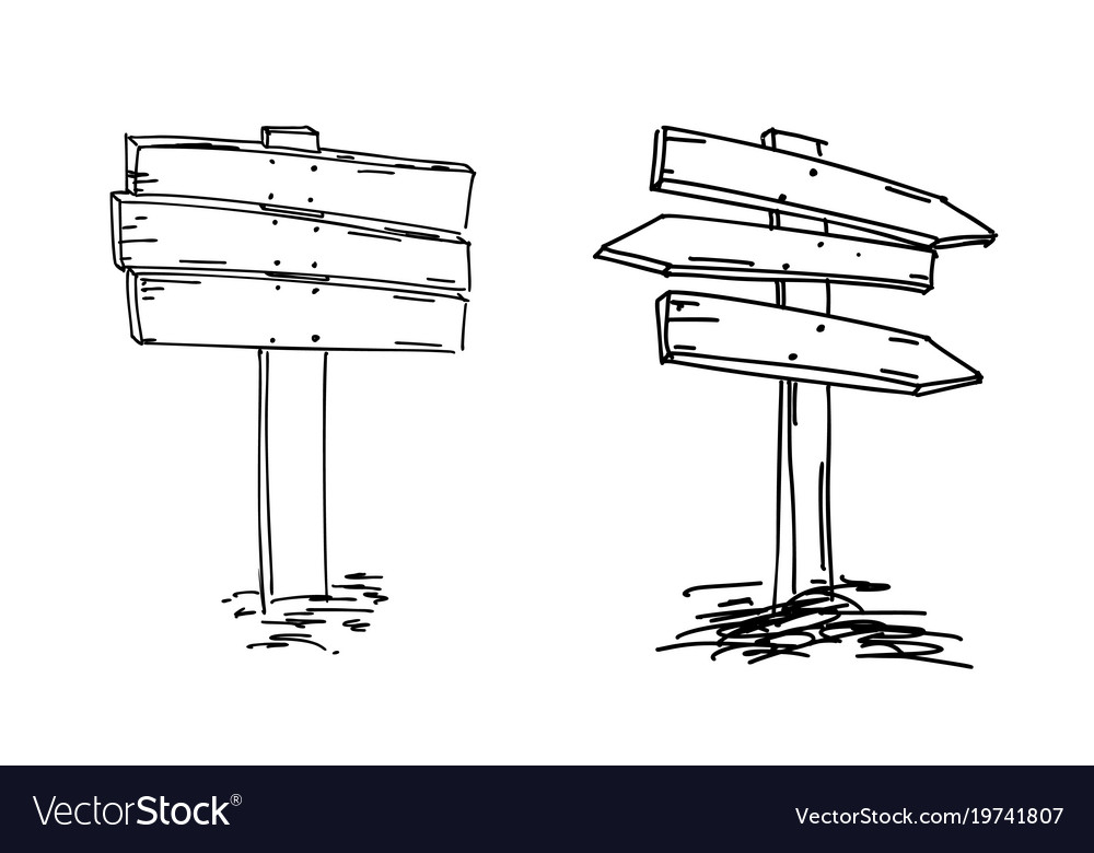 Double arrows hand drawn sketch vector image