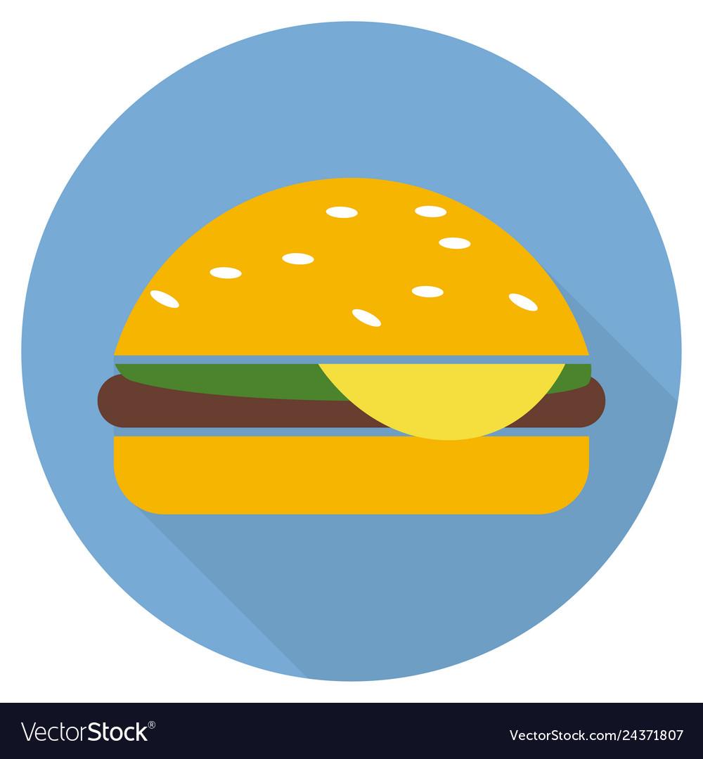 Hamburger icon in flat style long shadow