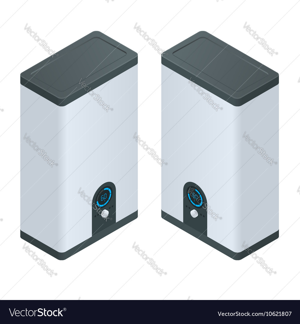 Isometric Home electric heating boiler Home Vector Image