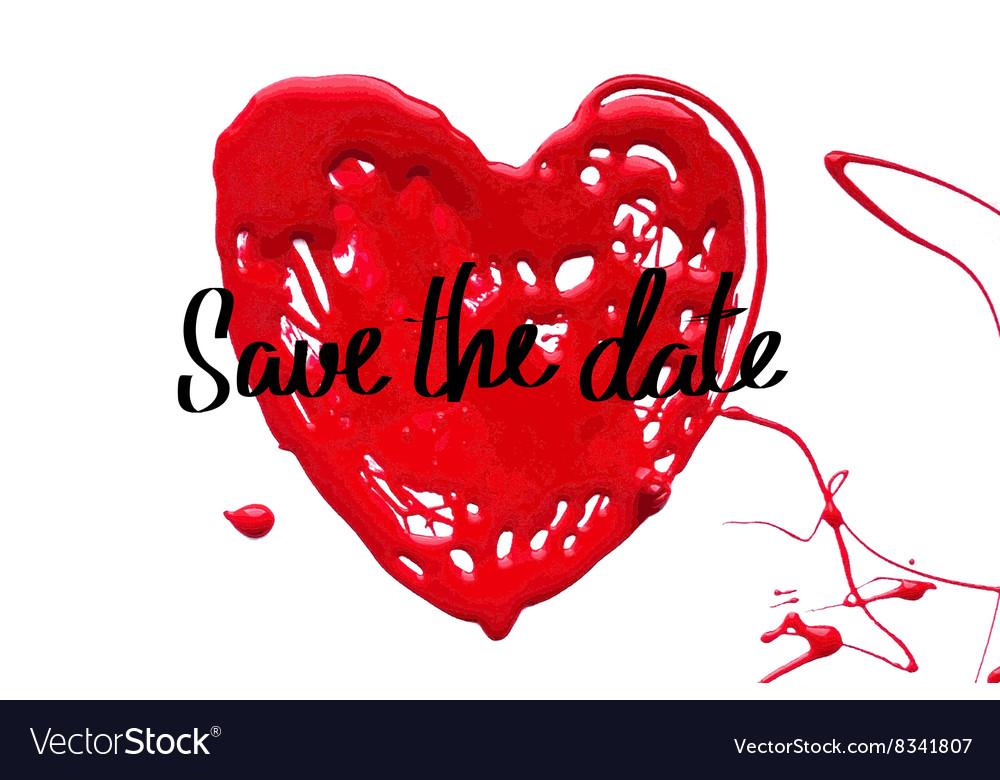b5c83e7641ca7 Love heart Save the date