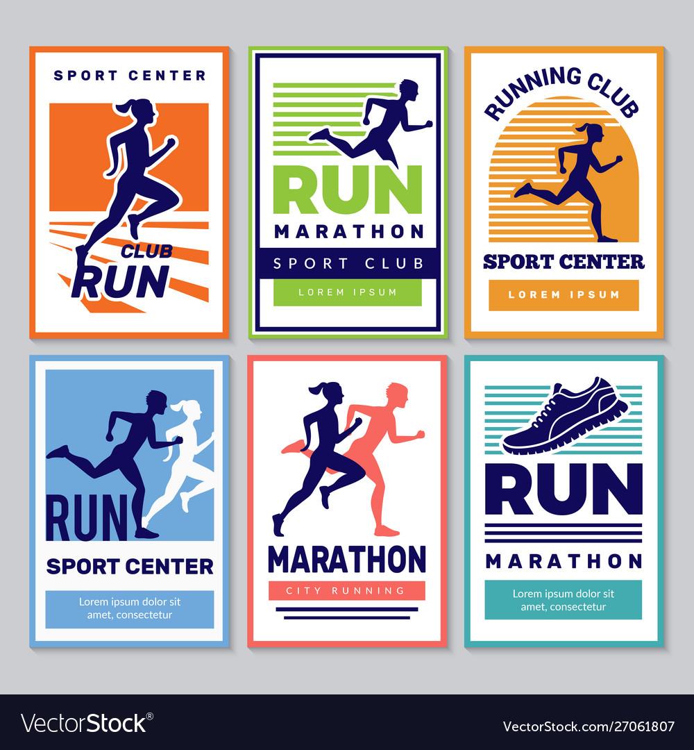 Running club poster marathon winners sportsmen