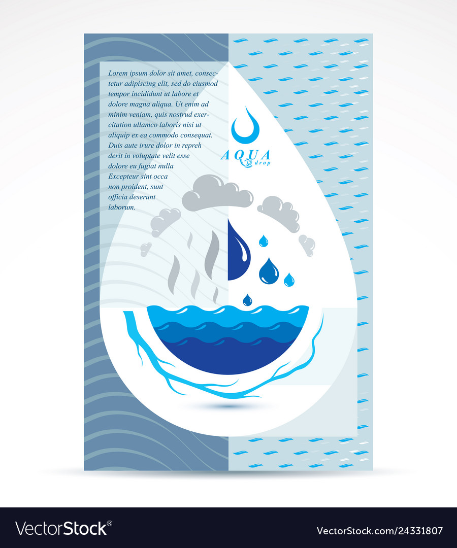 Water treatment company advertising flyer global