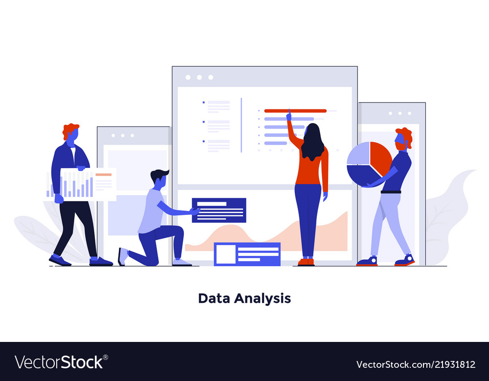 Modern flat design concept - data analysis