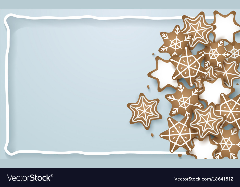 Snowflake star cookies shapes background