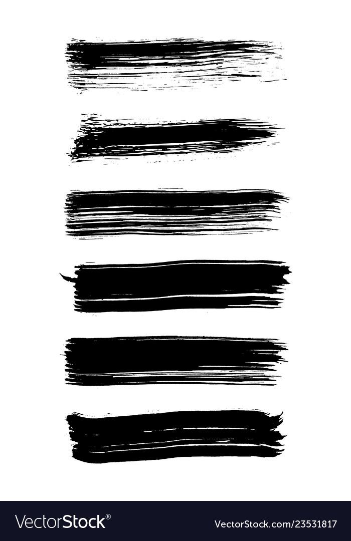 A set of grunge brush strokes brush stroke