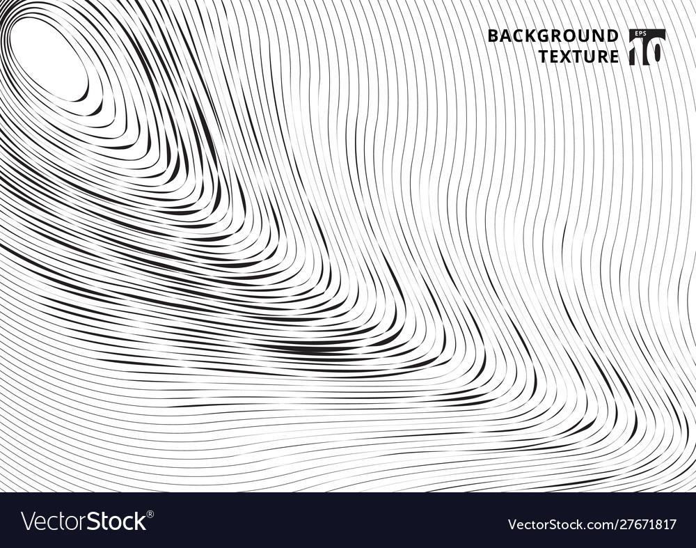Abstract black scratch curved lines pattern on